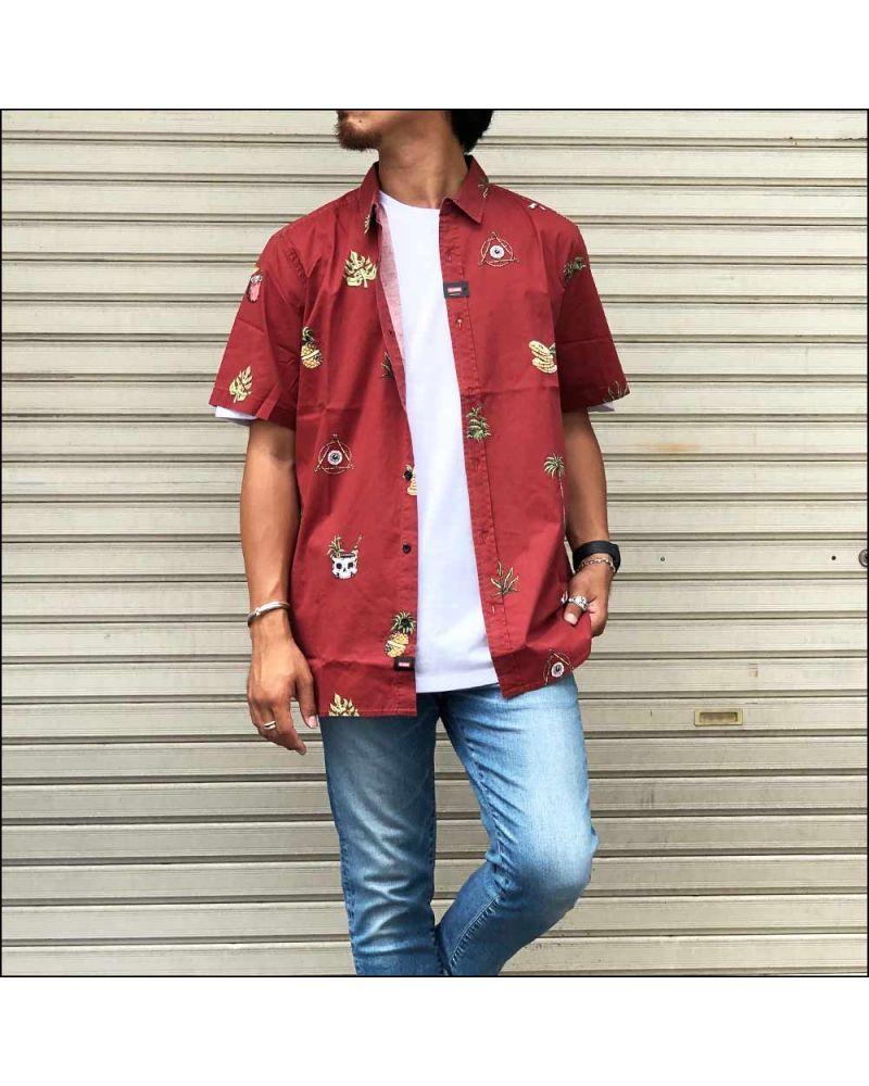 Half Cut SS Shirt Brick Red