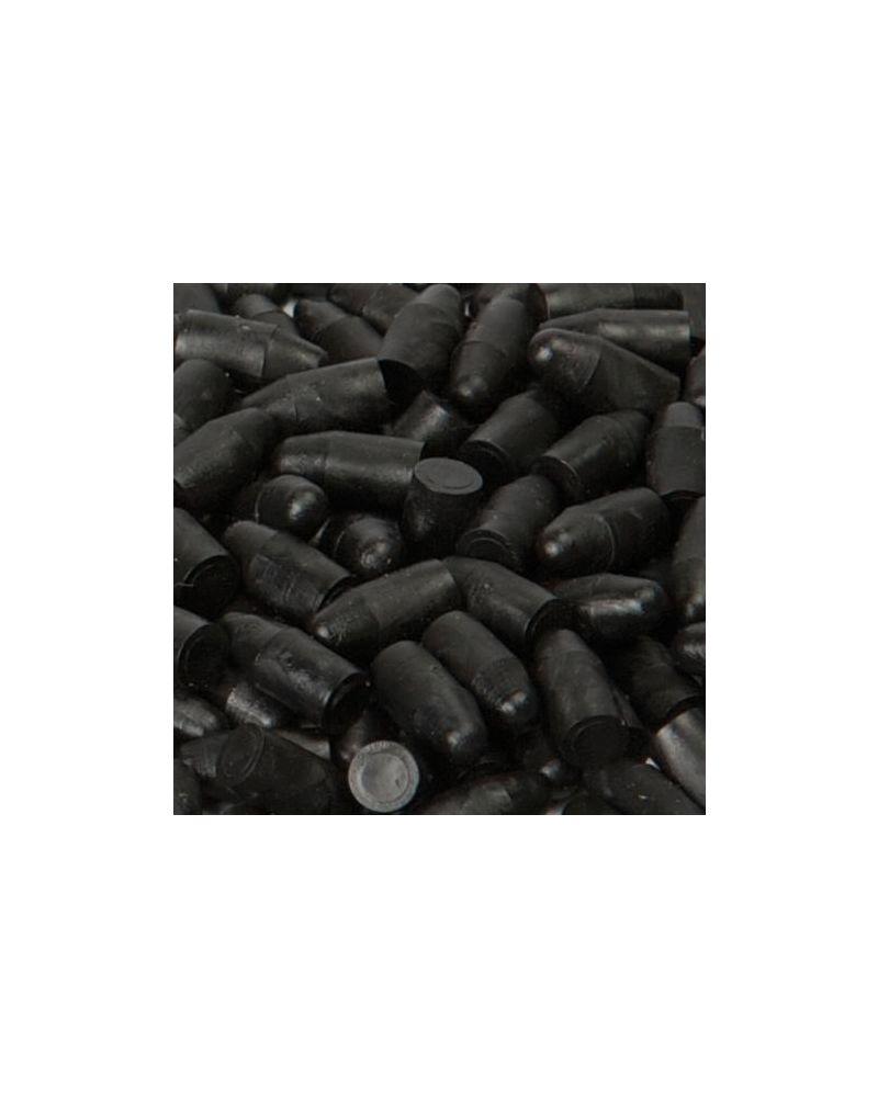 PLASTIC PLUGS 1.000 pcs. - JET BLACK (1403/1)