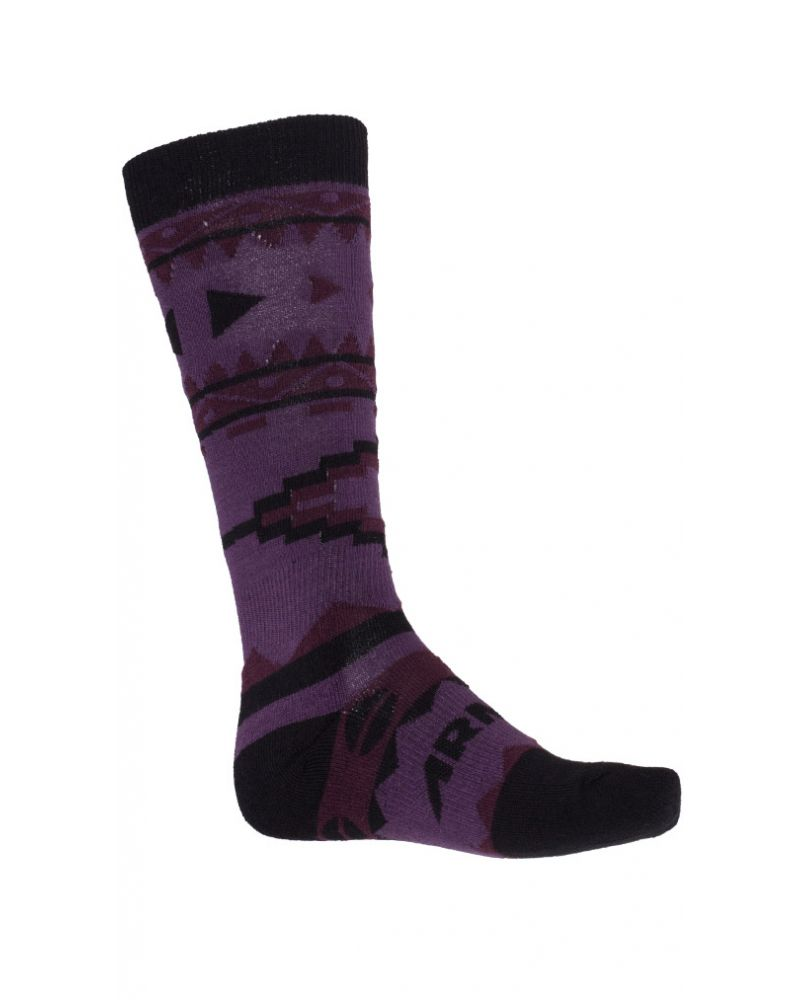 DOUBLE DIAMOND MERINO SOCK - Black