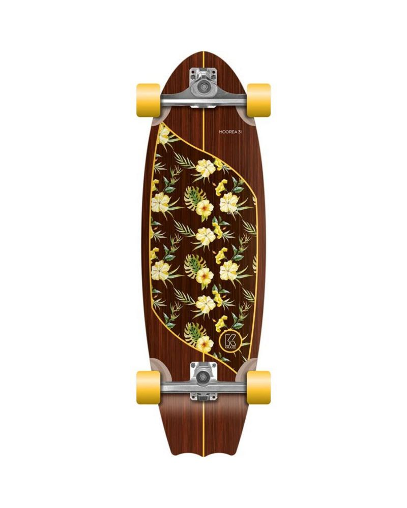 "31"" Surfskateboard Moorea Plumeria"
