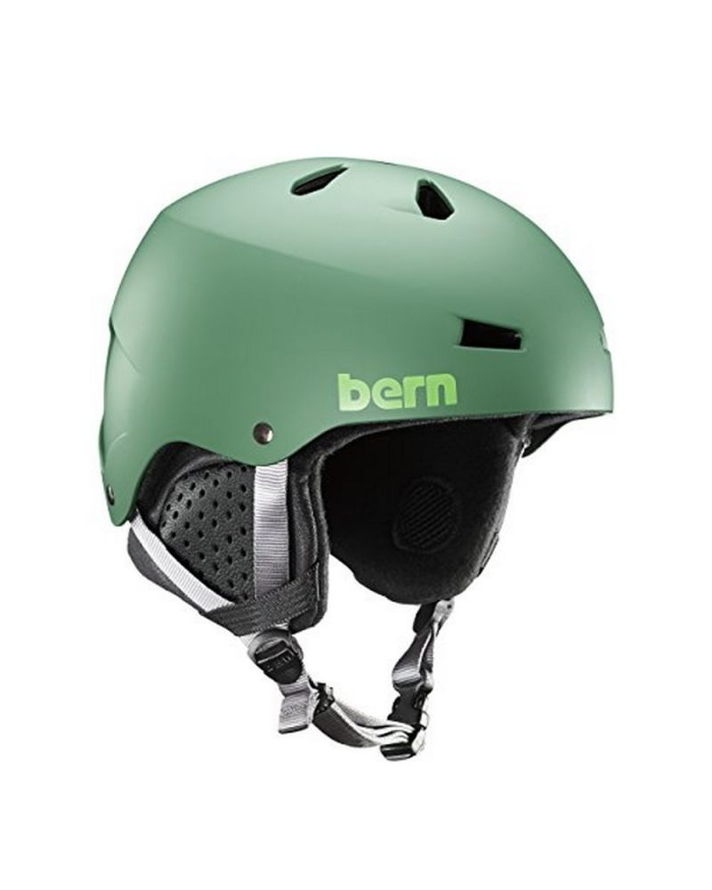 BERN Macon EPS - Matte Leaf Green/Black   L