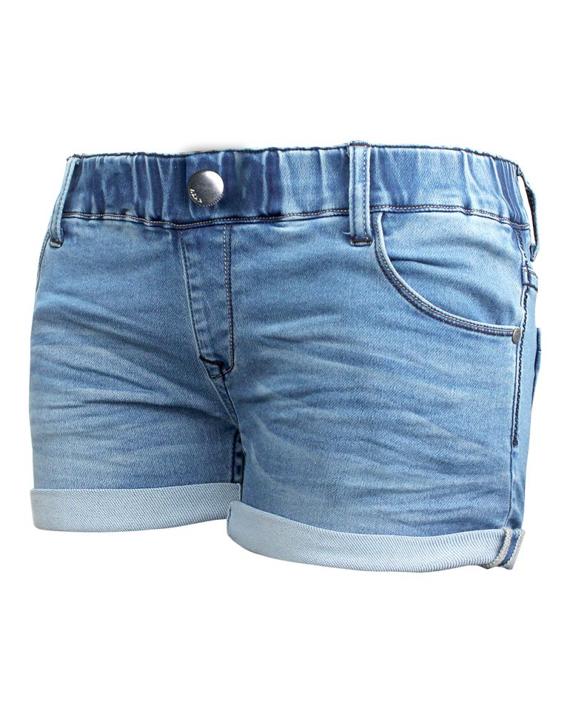WAXX LADIES INDIAN JOGGJEAN SHORT - Washed Blue