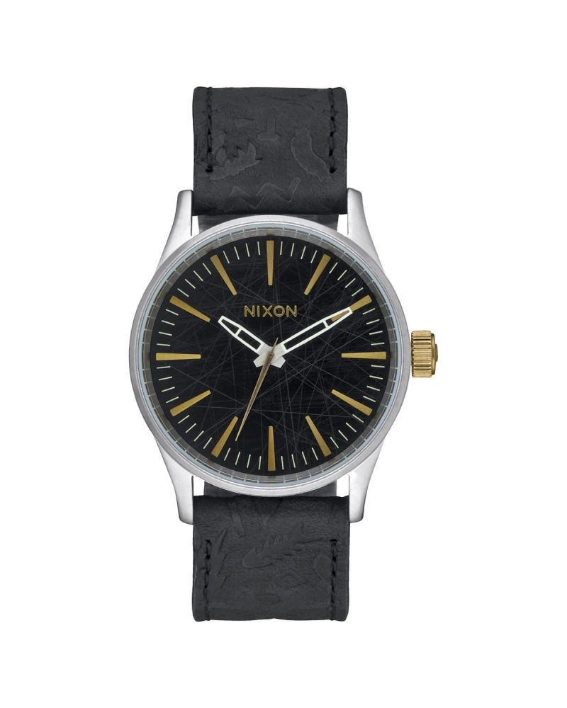 Sentry 38 Leather Black / Brass