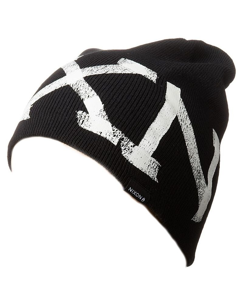 TAPED BEANIE BLACK