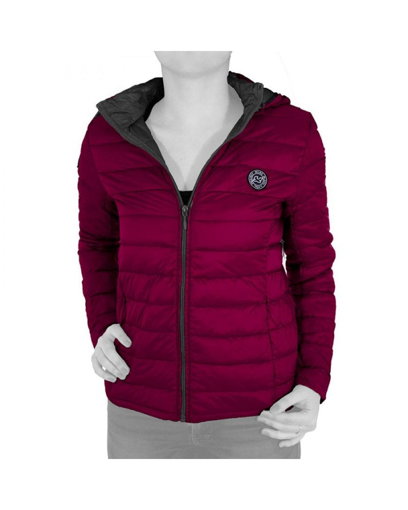 LADY SHELTER ORGANIC DOWN JACKET  CHERRY