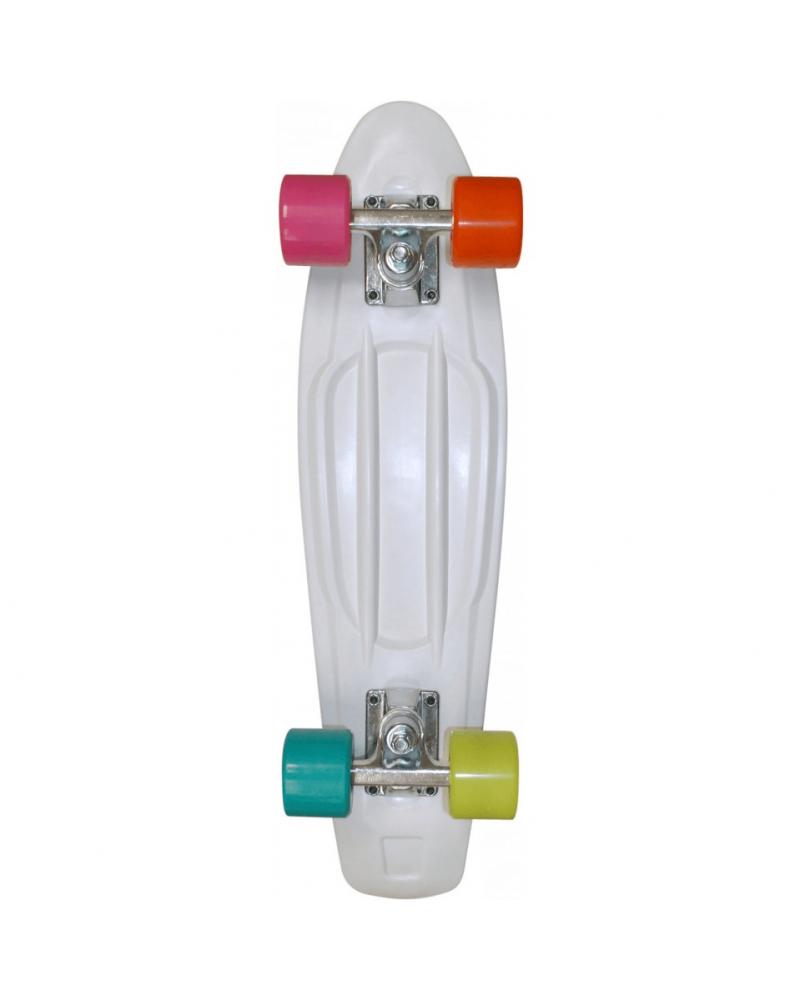 """28"""" RETRO PLASTIC / LED Wheels - White"""