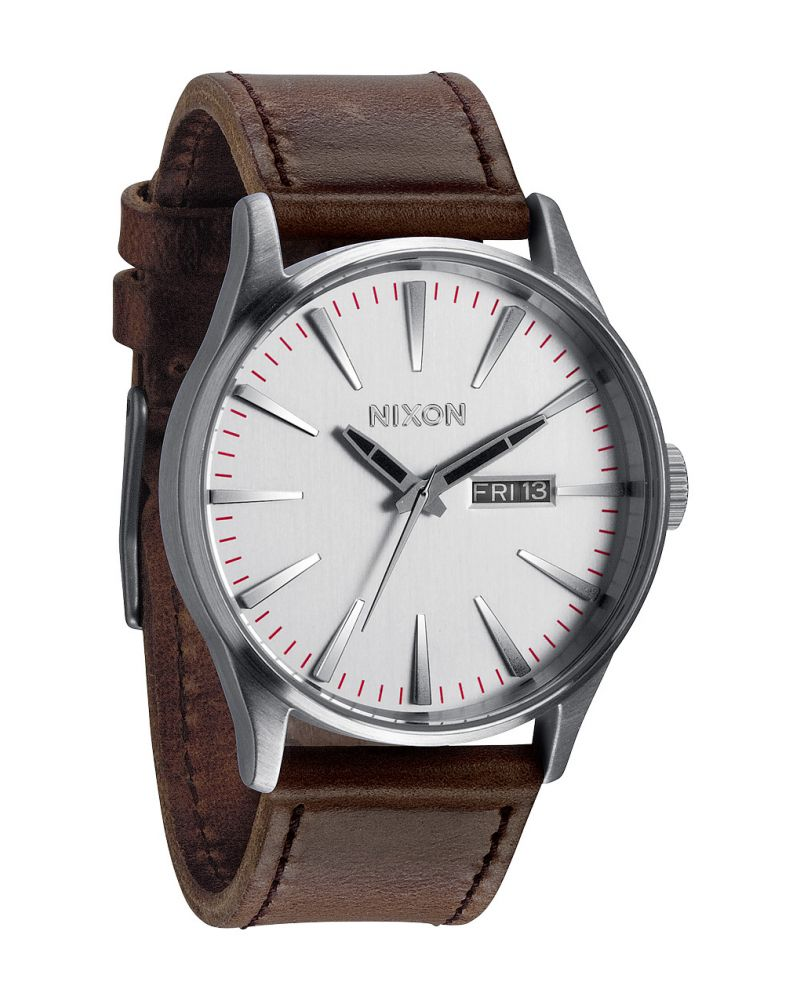 SENTRY LEATHER - SILVER/BROWN