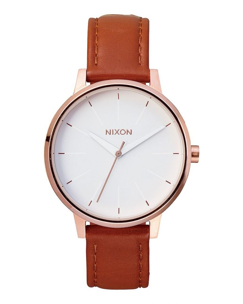 Kensington Leather Rose Gold White