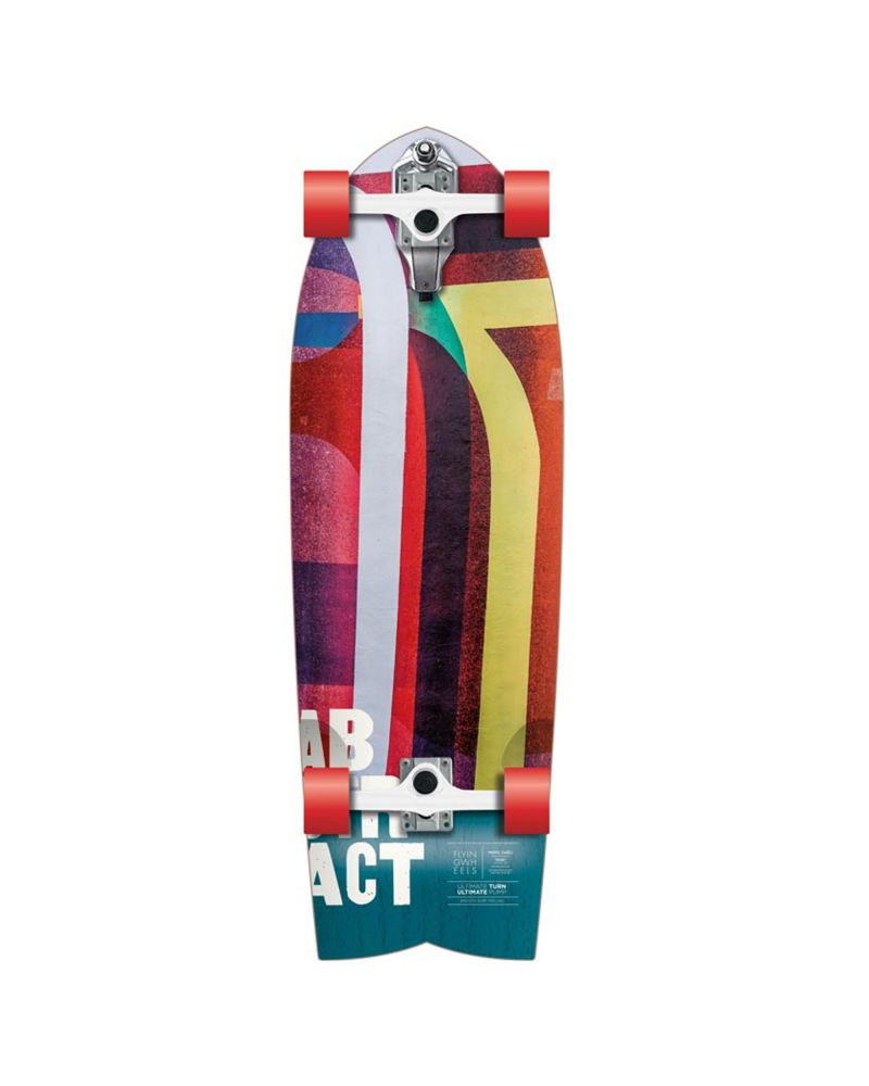 "32"" Surfskateboard Lombard Abstract"