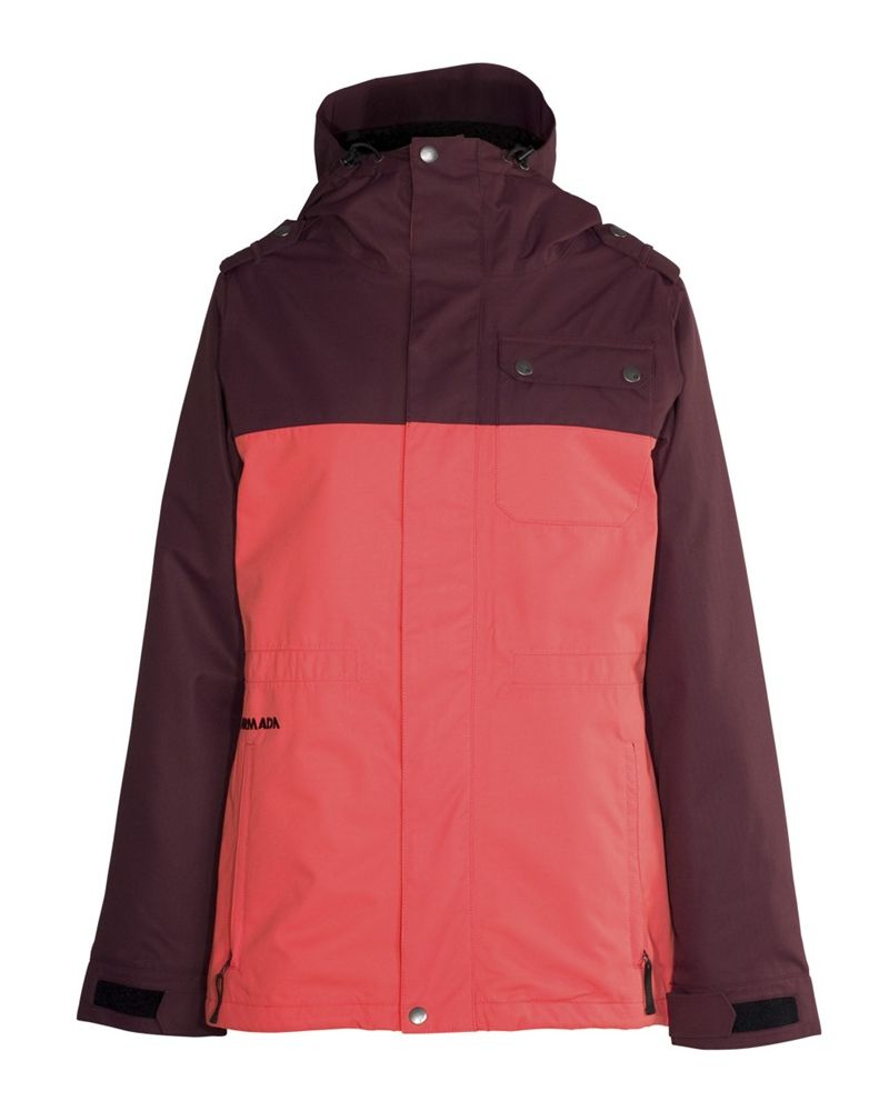 ABBEY INSULATED JACKET - Coral