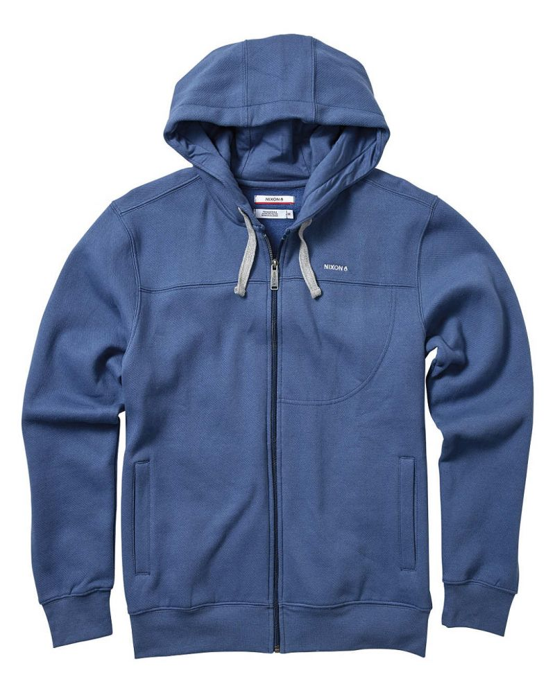 Whitaker Full Zip Hoodie French Blue