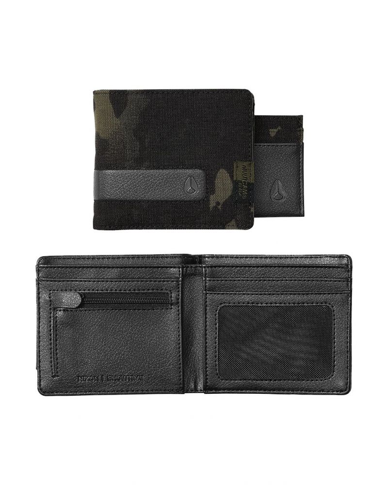 Showtime Bi-Fold ID Zip Wallet - Black Multicam