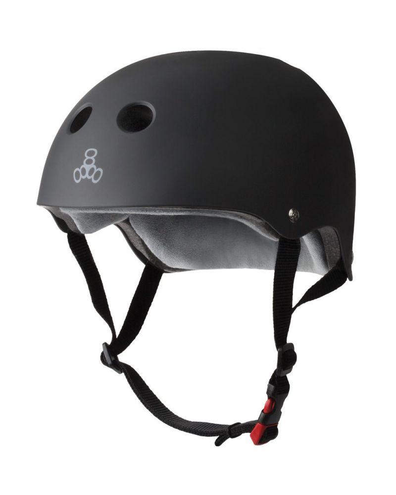 Sweatsaver Helmet Black rubber/red strap