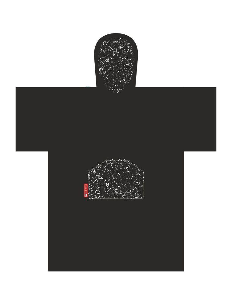 Change Robe Poncho Black Speckle