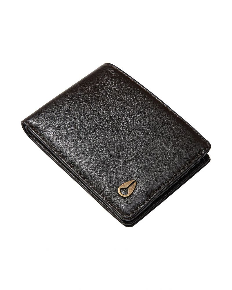Heros bi-fold wallet Brown