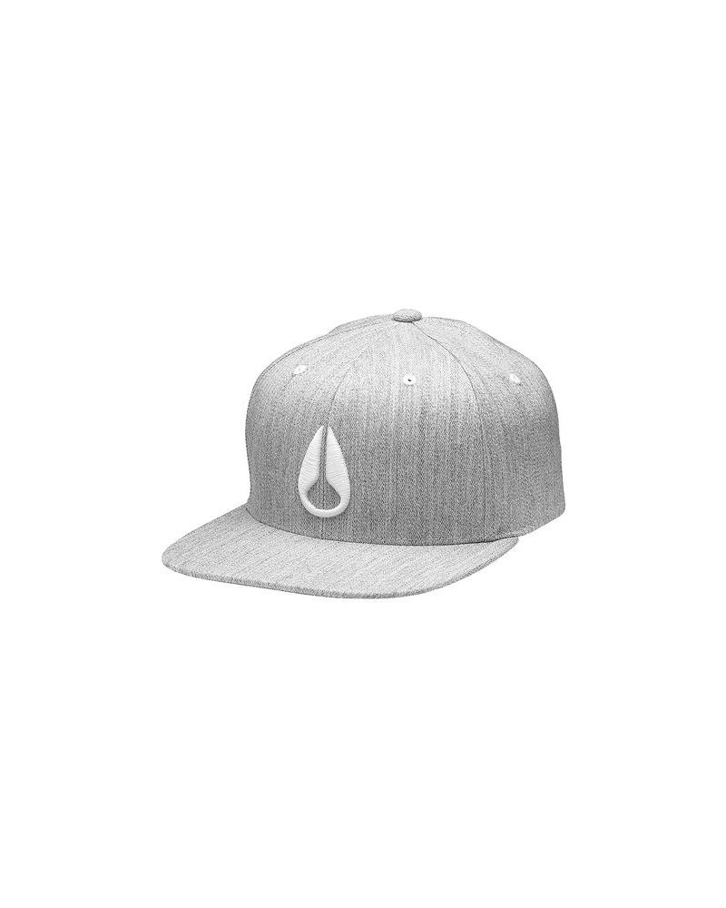 DEEP DOWN FF ATHLETIC FIT HAT - Heather Gray / White S/M