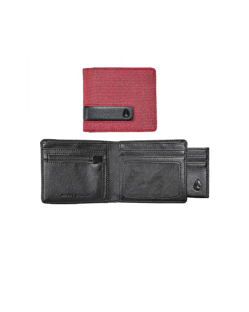 SHOWTIME BI-FOLD ID ZIP WALLET - Red Wash