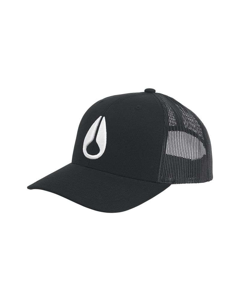 Iconed Trucker Hat - Black / White
