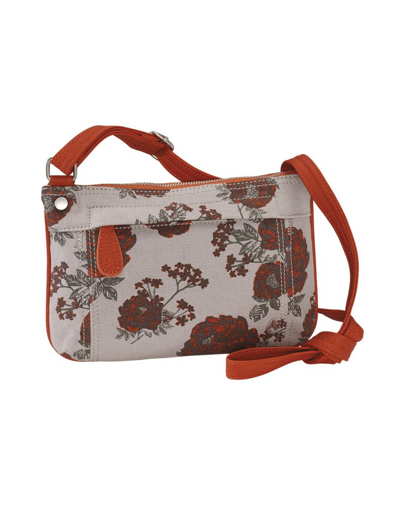 Fleet Crossbody Low Slung Hobo - Floral Canvas