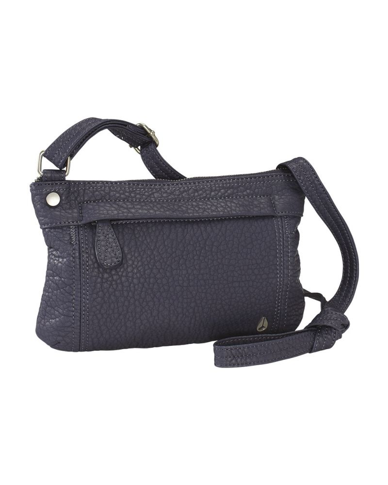 Fleet Crossbody Low Slung Hobo - All Steel Blue
