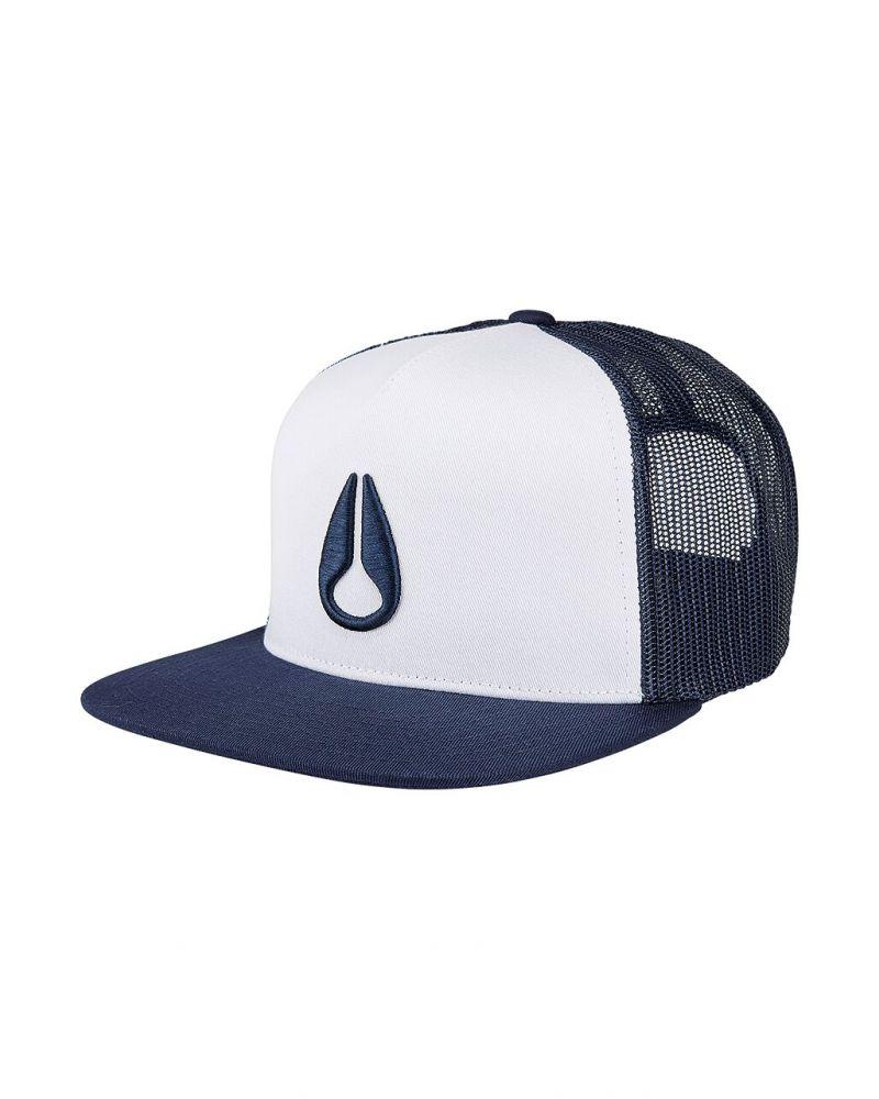 Deep Down Trucker Hat White / Navy
