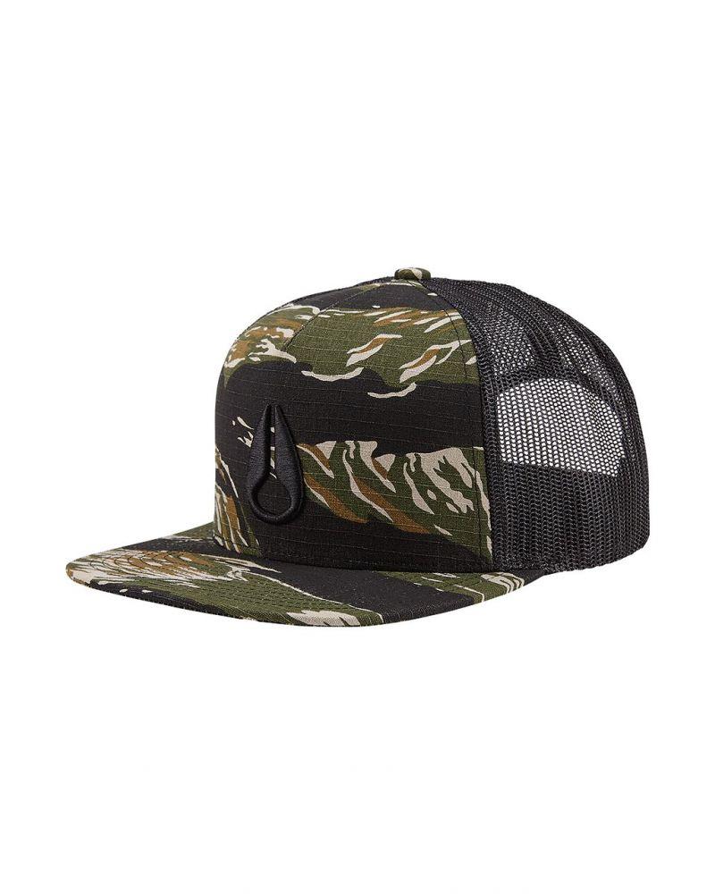 Deep Down Trucker Hat Tiger Camo