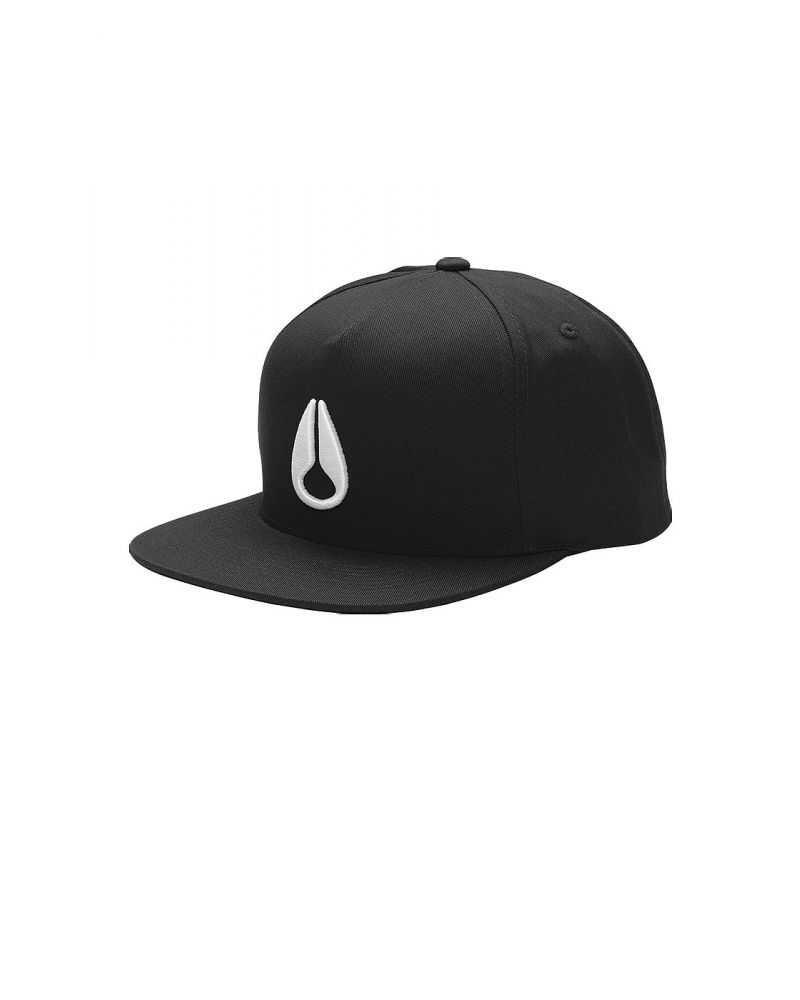 SIMON SNAPBACK HAT - Black / White