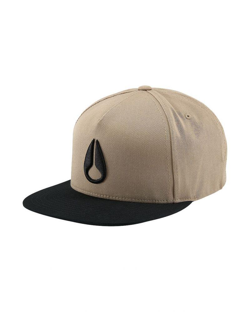 Simon Snap Back Hat Khaki / Black