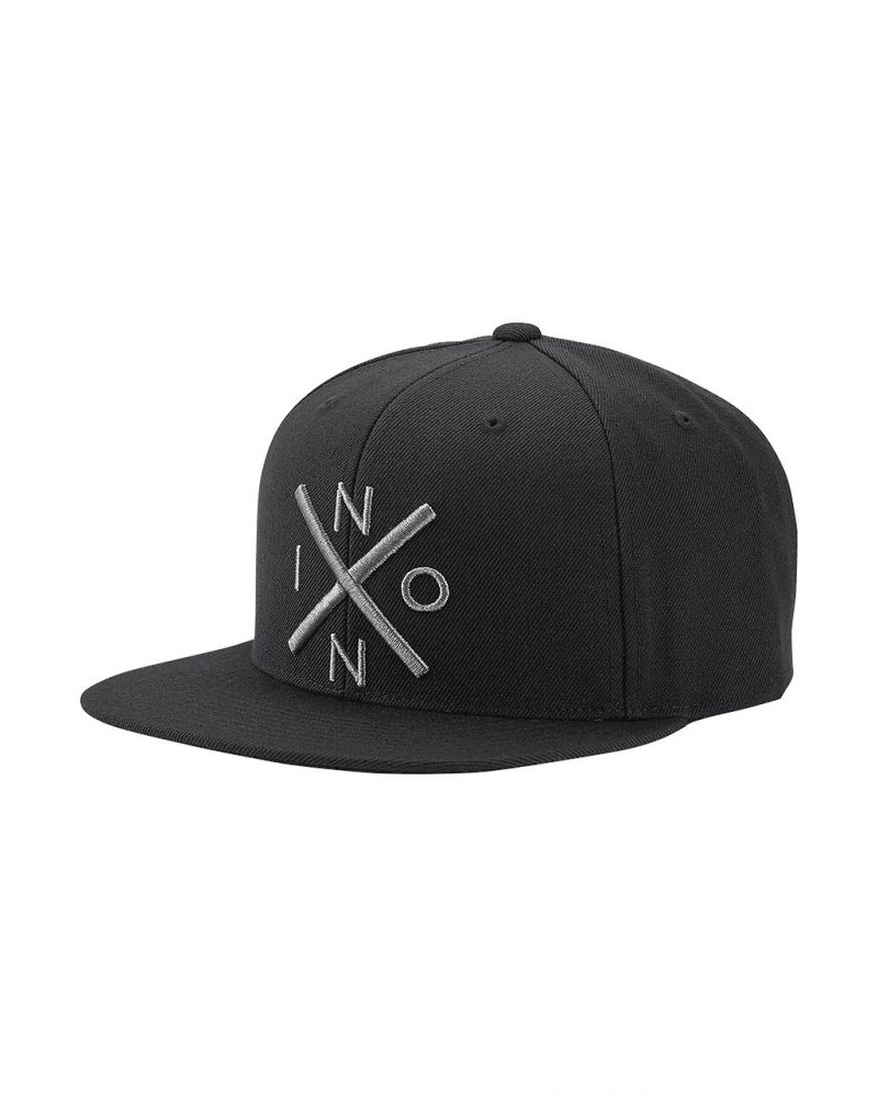 Exchange Snapback Hat Black / Dark Gray