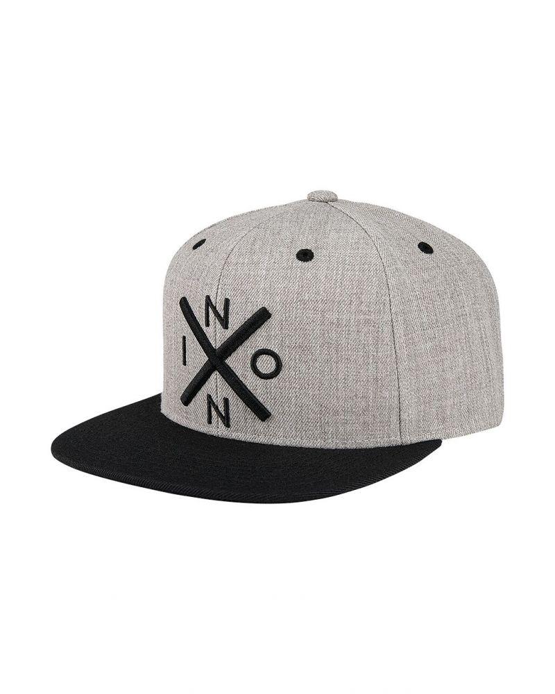Exchange Snapback Hat Heather Gray / Black