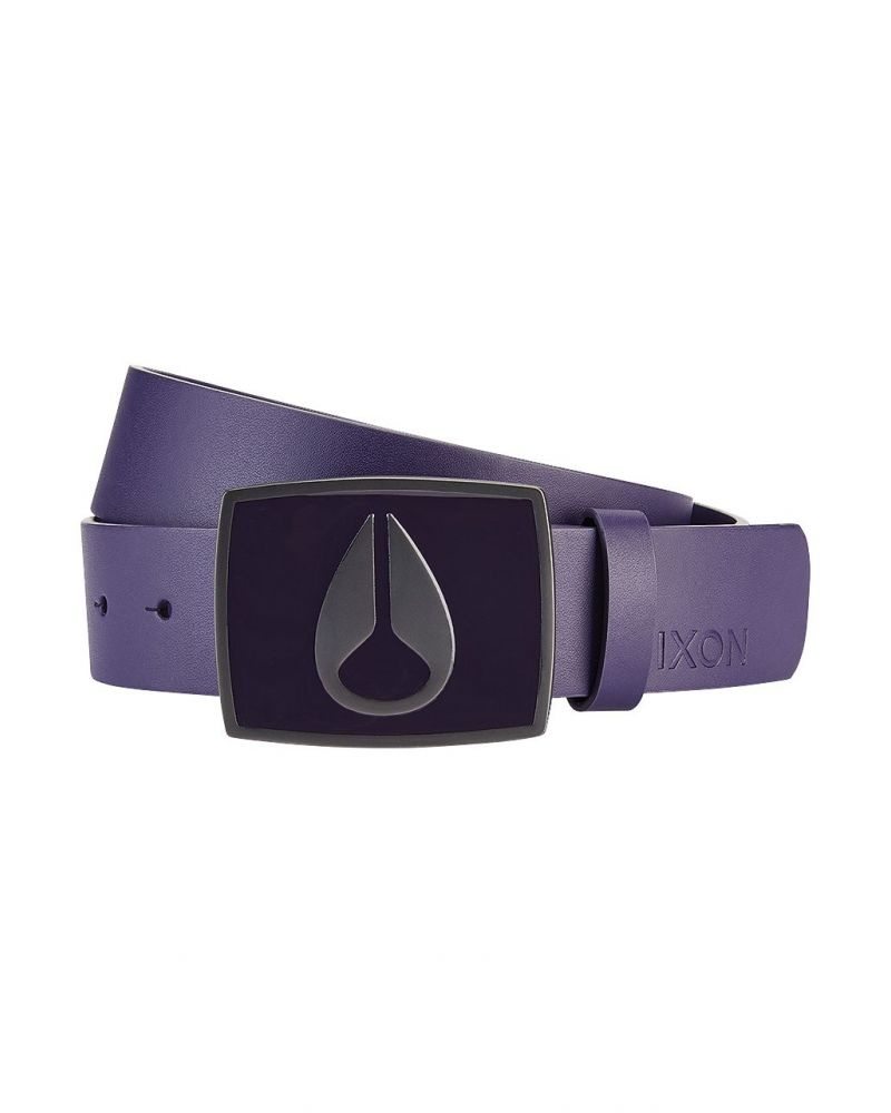 NIXON ENAMEL ICON II BELT - Deep Purple