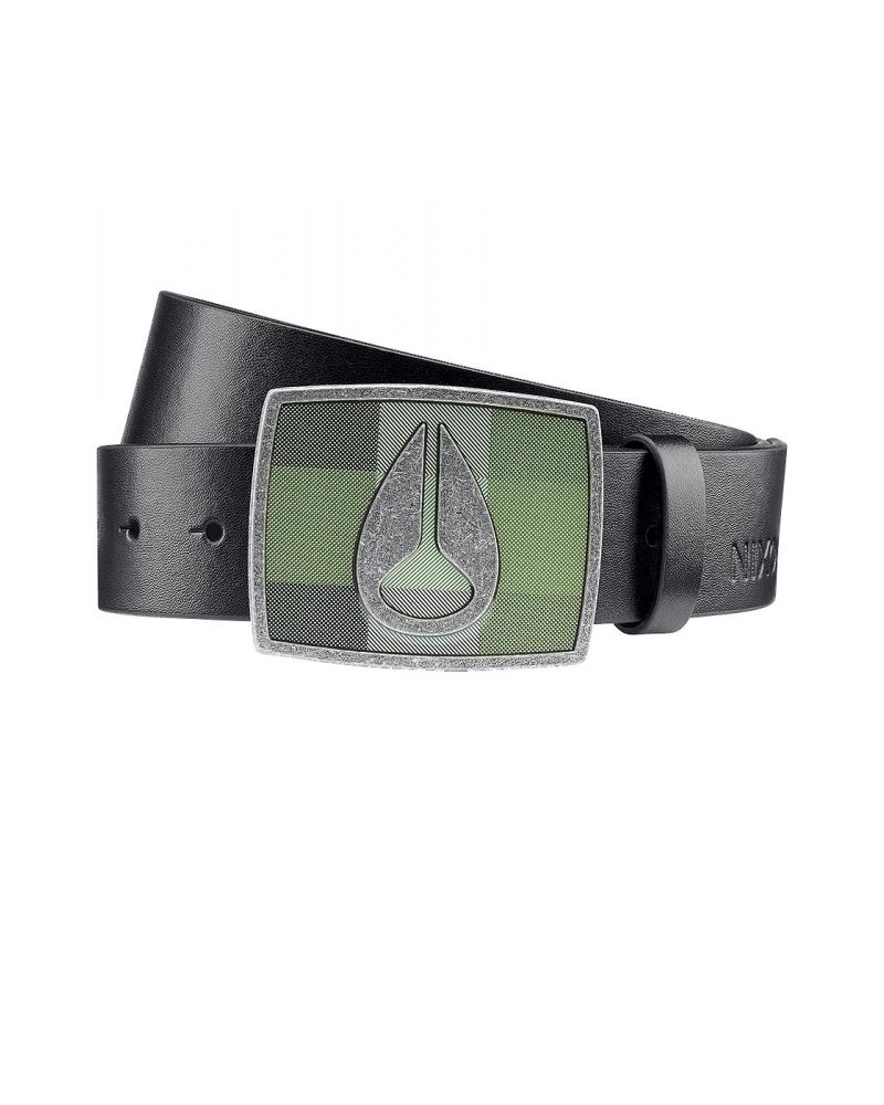 NIXON ENAMEL ICON II BELT - Black Plaid