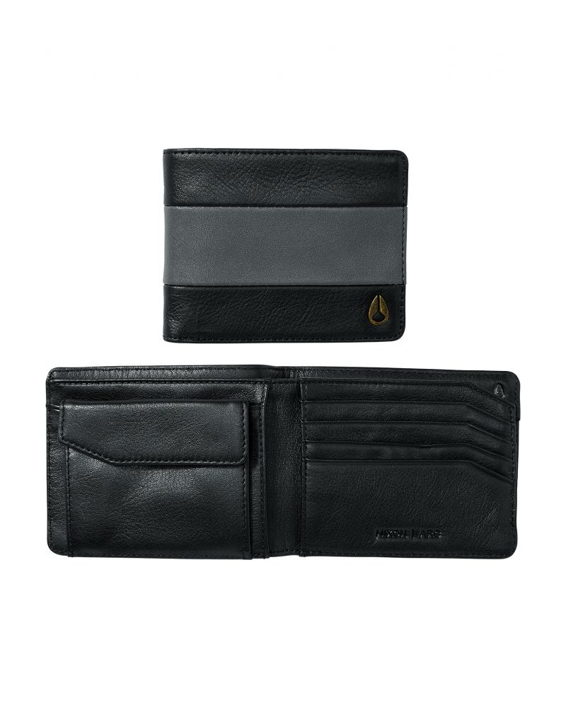 Arc Bi-Fold Wallet - Black/Charcoal