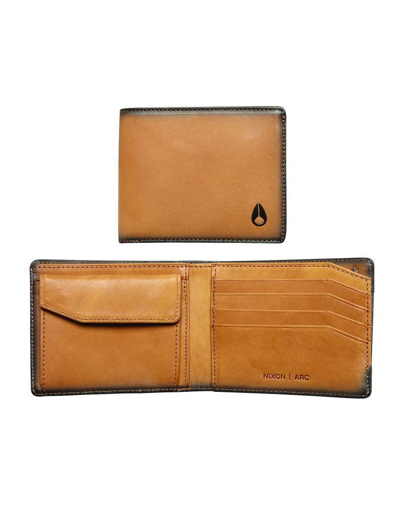 NIXON Arc Bi-Fold Wallet - Tan