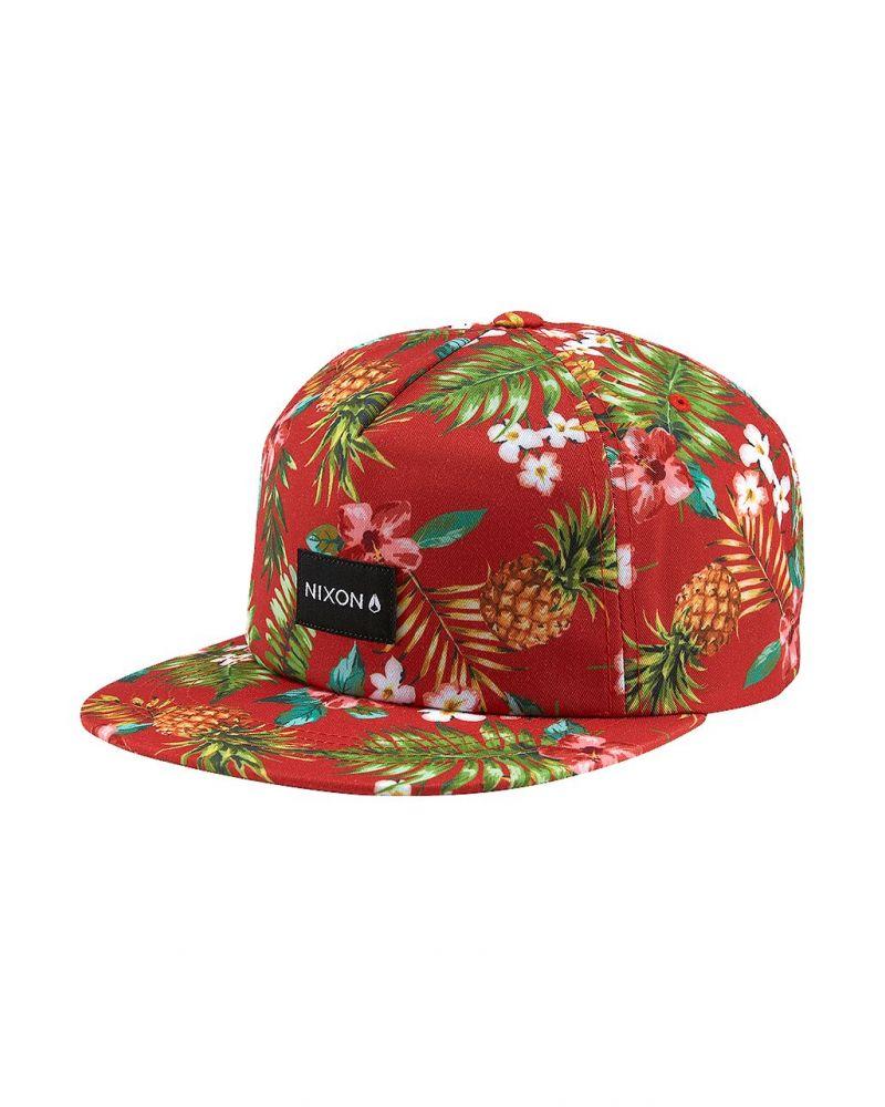 Tropics Snapback Hat Red