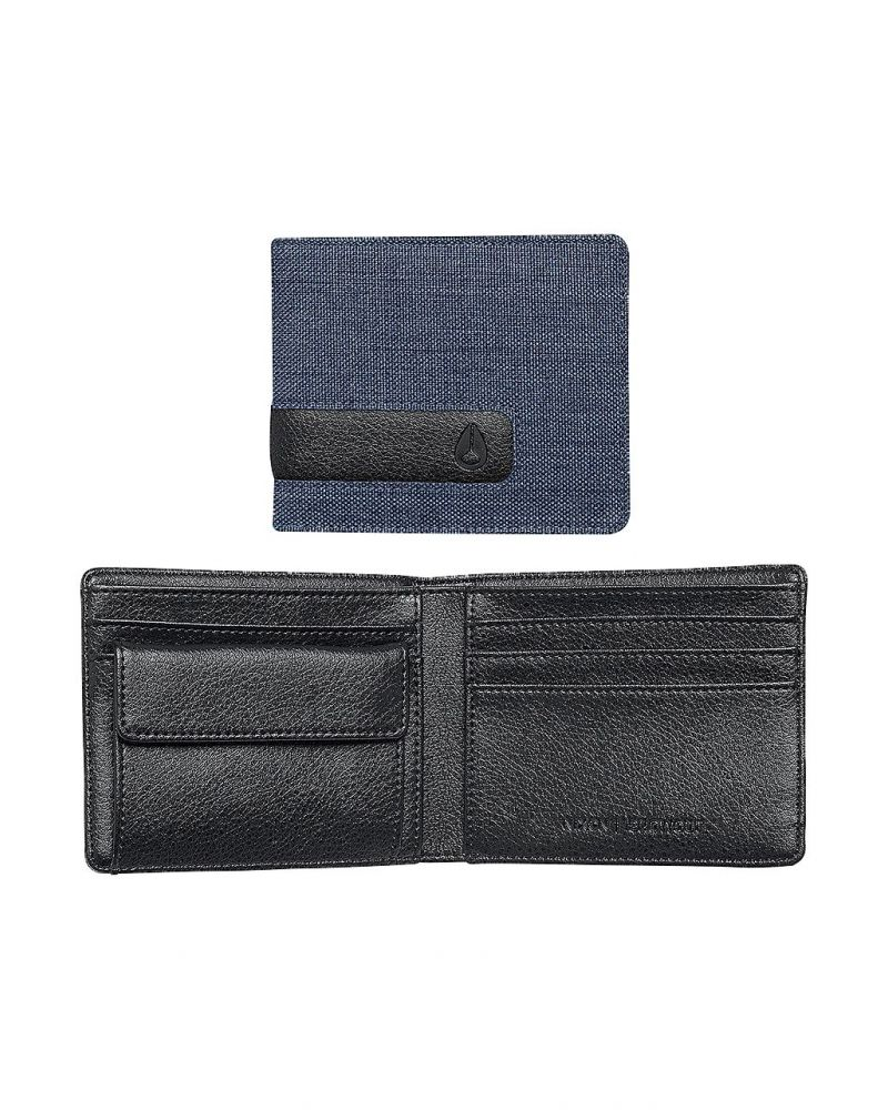 SHOWOUT BI-FOLD SNAP WALLET - Blue Wash