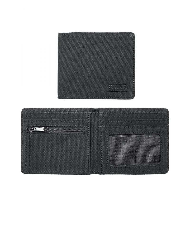 ATLAS CANVAS BI-FOLD WALLET - Black