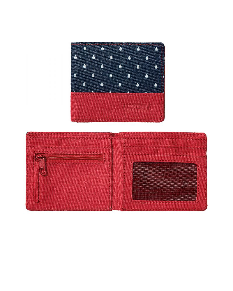 ATLAS NYLON BI-FOLD WALLET - Navy