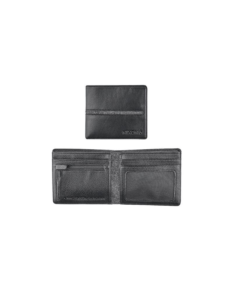 COASTAL BI-FOLD ZIP WALLET - Black