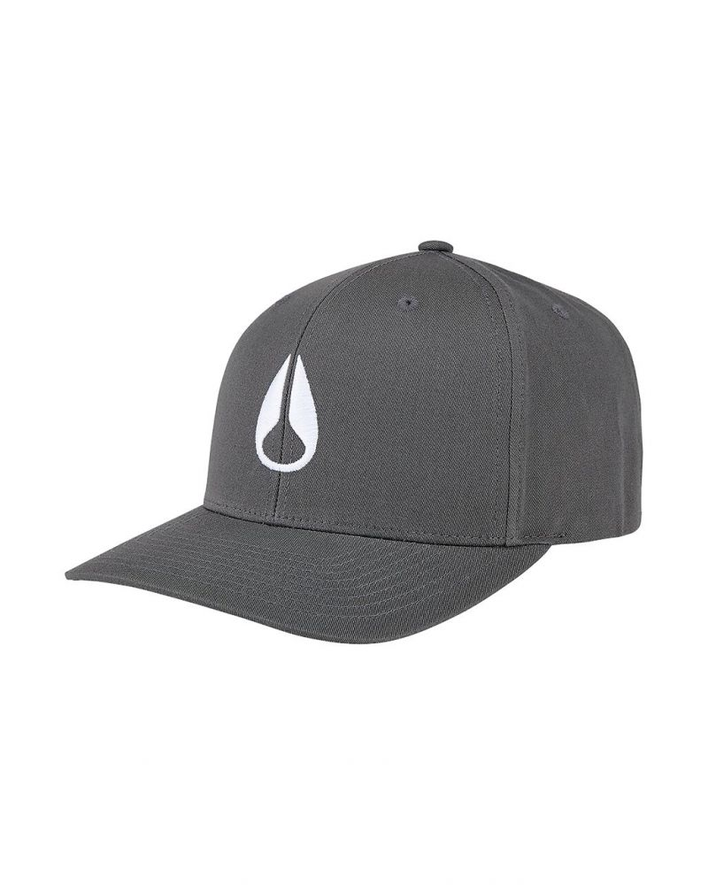 Wings Snapback Hat Charcoal / White