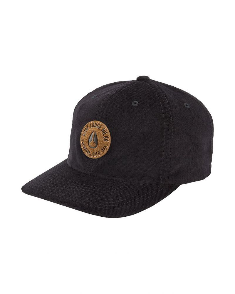 Seaside Strapback Hat Black