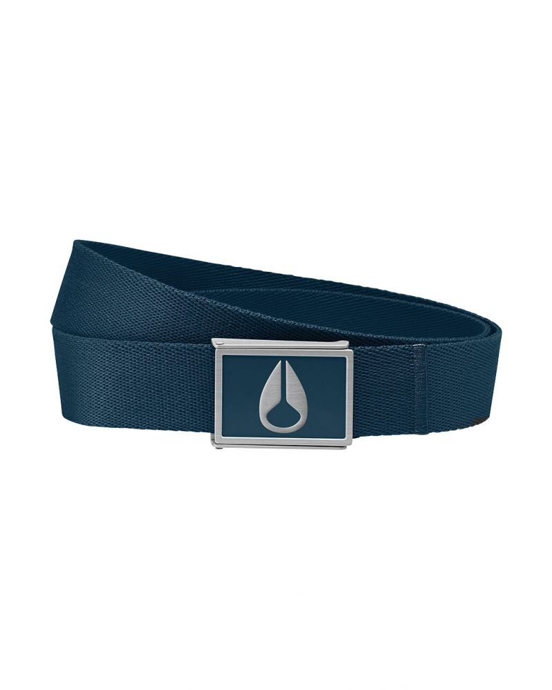 Enamel Wings Belt Navy