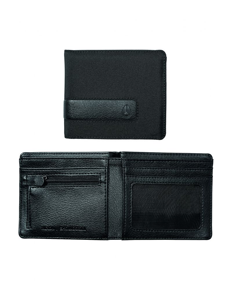 Showdown Bi-Fold Zip Wallet - All Black Nylon