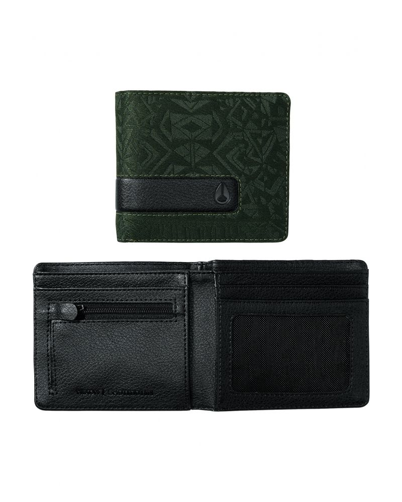 Showdown Bi-Fold Zip Wallet-Palm