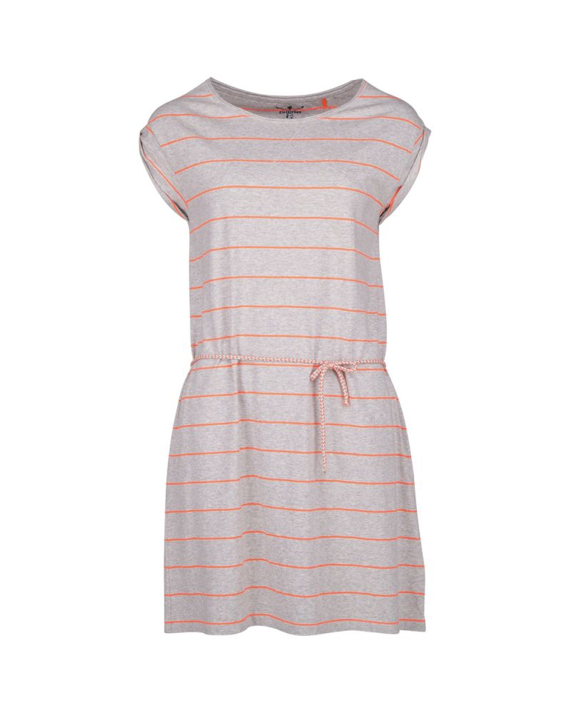 LUCIE JERSEY DRESS - Fine Stripe