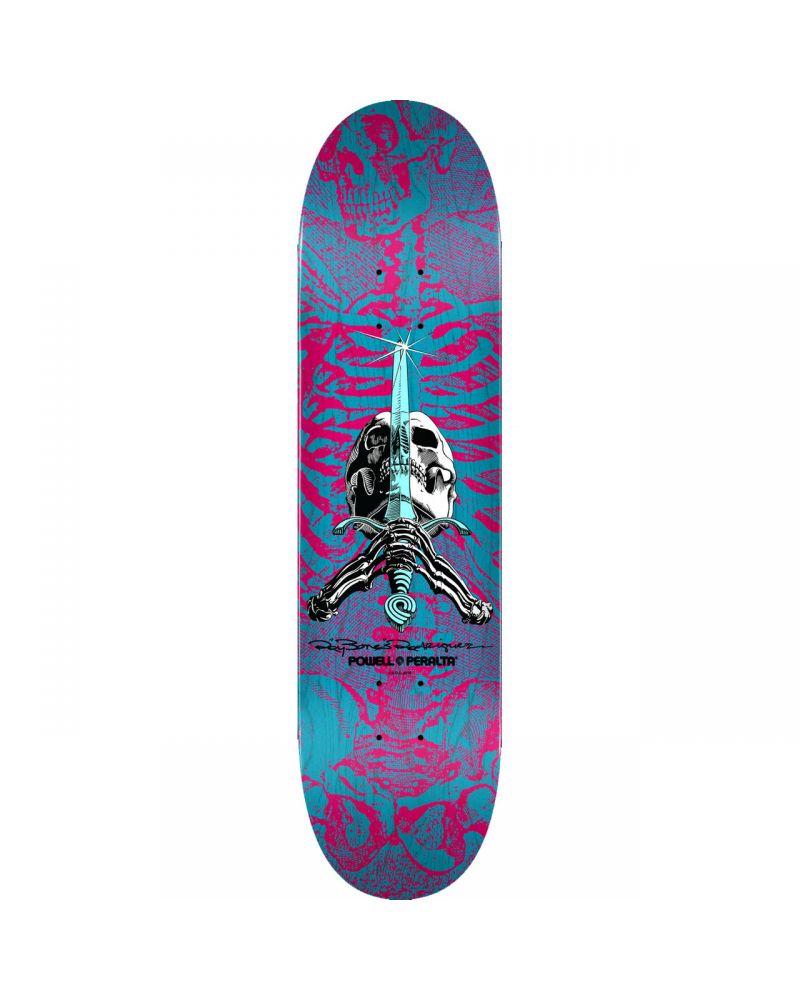 8.75 SKULL & SWORD PP DECK PINK/BLUE PP