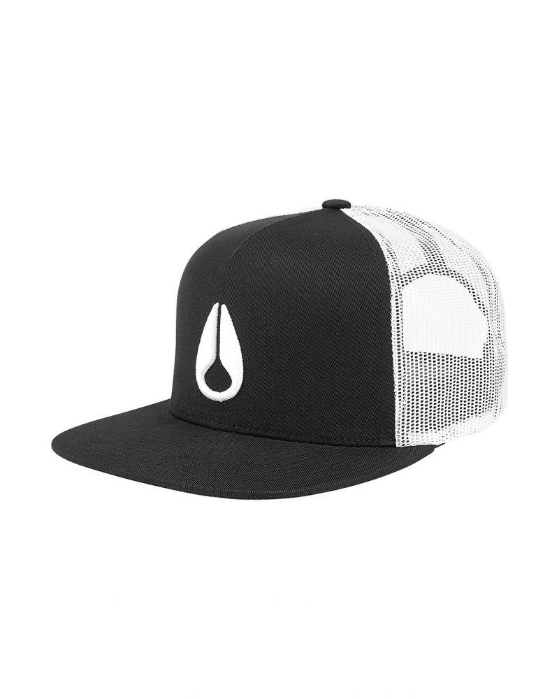 Deep Down Trucker Hat Black / White / Black