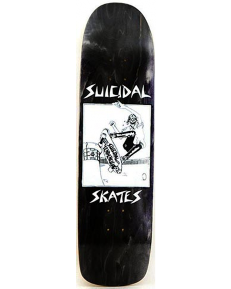 X SUICIDAL POOL SKATER BLACK STAIN DECK 8.50 X 32.07