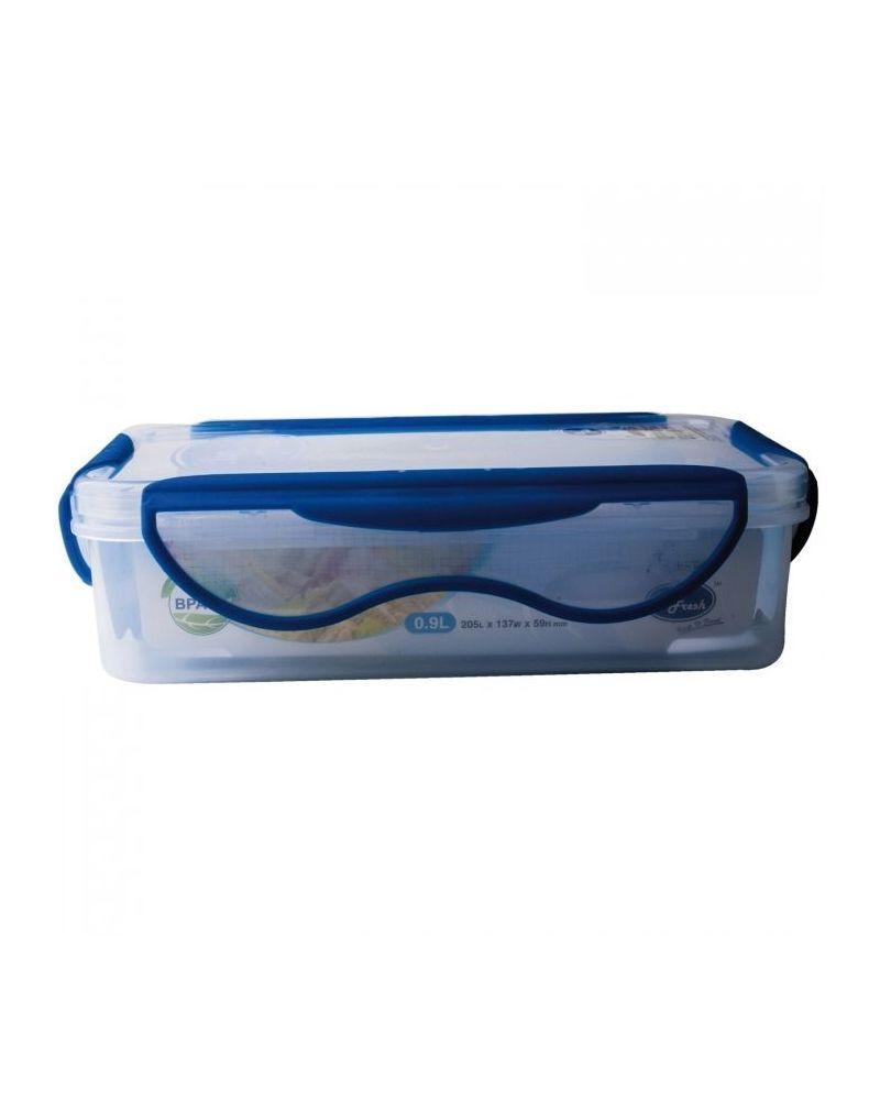 LAKEN LUNCHBOX blue lid - Rectangular 600 ml