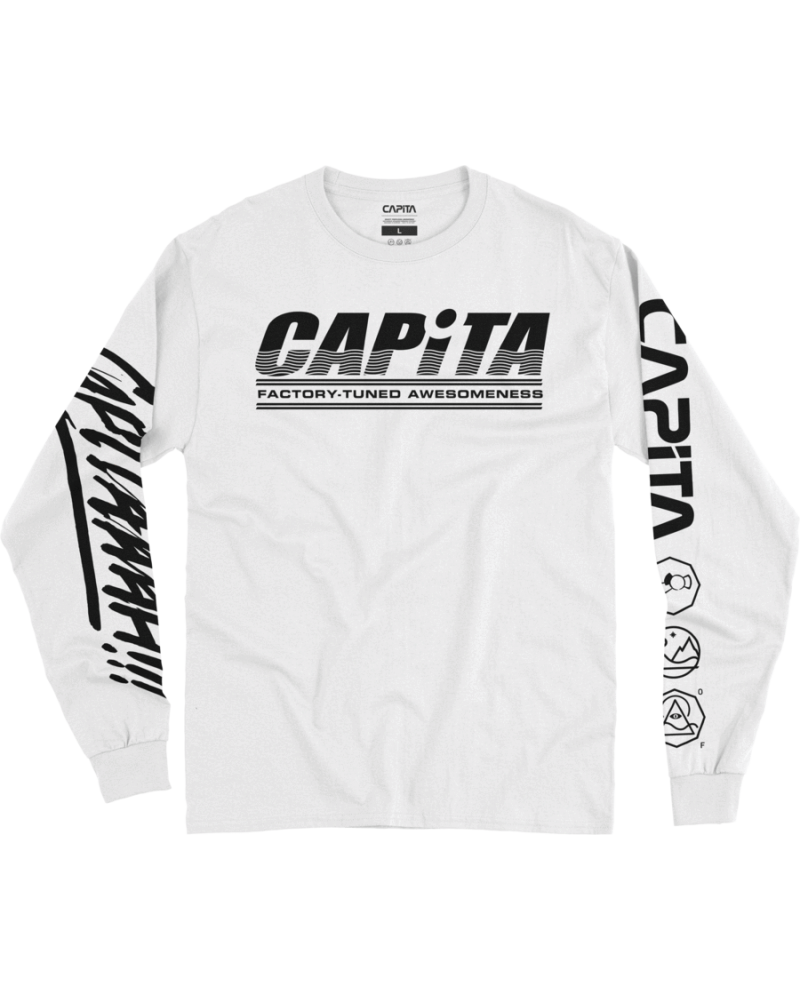 FACTORY - LONG SLEEVE TEE WHITE